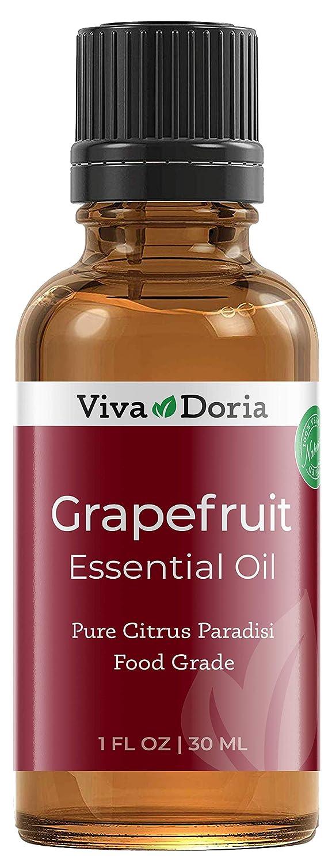 Viva Doria 100% Pure Grapefruit Essential Oil, Undiluted, Food Grade, made in USA Grapefruit Oil, 30 mL (1 Fl Oz)