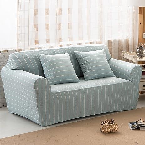Amazoncom Uozzi Cotton Stretch Sofa Slipcover 1Piece striped