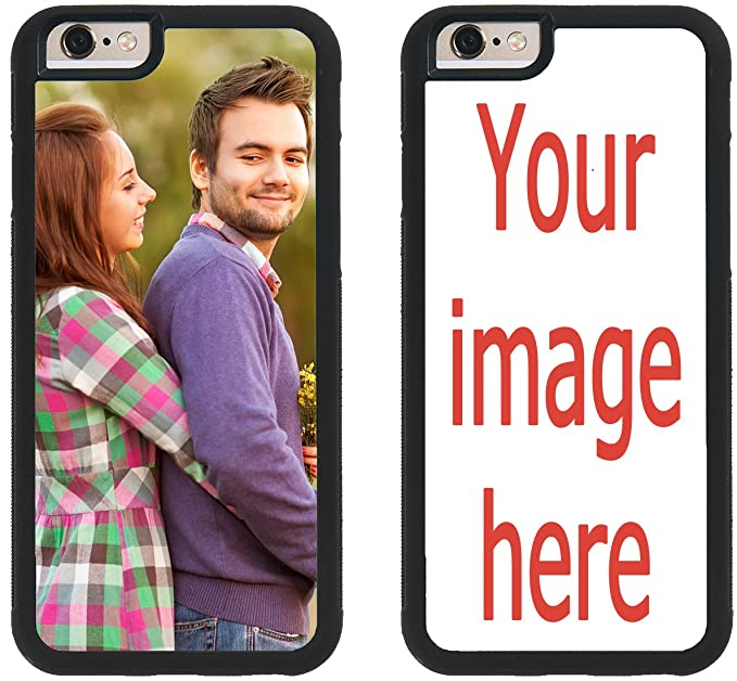 sports shoes c41df e3c9a Custom iPhone Cases iPhone 6 iPhone 6S iZERCASE [PERSONALIZED CUSTOM  PICTURE CASE] Make Your Own Phone Case (BLACK)