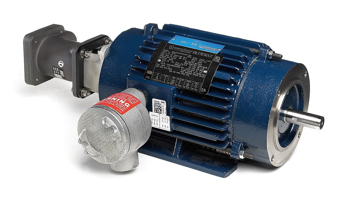 1 Speed 230//460 VAC Marathon 143THEN8034 Inverter Blue Max 2000 Hazardous Duty Motor 143TC Frame Marathon Electric MY978 C-Face with Base Class I and II 1800 rpm 3 Phase 1 hp Ball Bearing TENV XP Division 1
