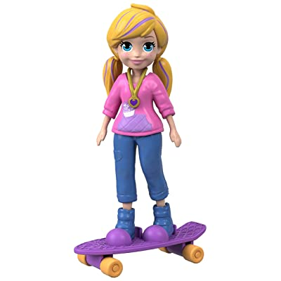 Polly Pocket Active Pose Doll, Skateboard Polly: Toys & Games