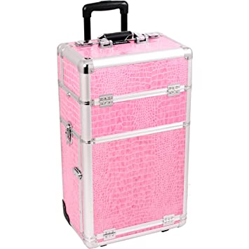 9a97f3f3f250 Amazon.com   SUNRISE Makeup Rolling Case I3263 2 in 1 Professional  Organizer
