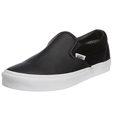 vans slip ons leather uk