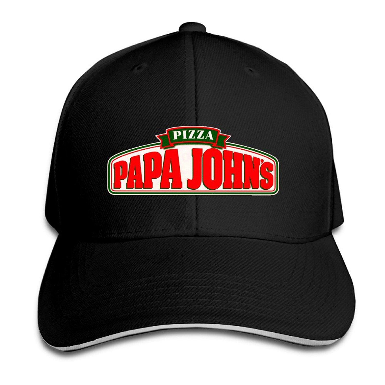amazon com papa john u0027s pizza sun hats strapback hat
