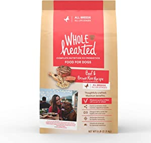 WholeHearted All Life Stages Beef and Brown Rice Recipe Dry Dog Food, 5 lbs.