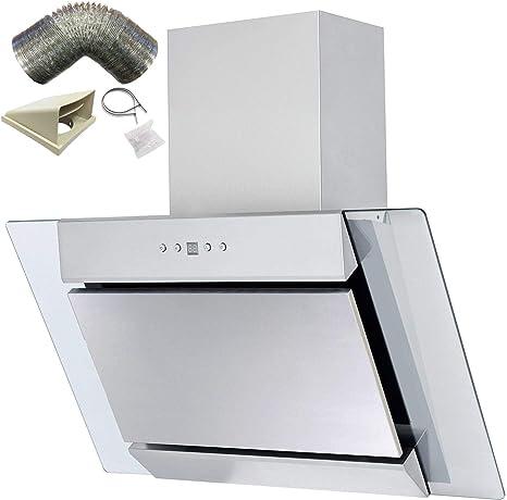 Sia agl71ss 70 cm S/acero en ángulo vidrio chimenea Extractor de campana + 3 M): Amazon.es: Grandes electrodomésticos
