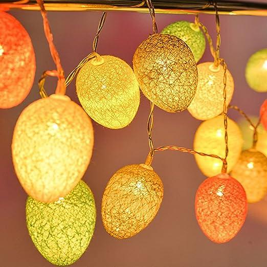 Stars100 cotton ball easter egg string light battery operated 73ft stars100 cotton ball easter egg string light battery operated 73ft rattan ball lights with aloadofball Images