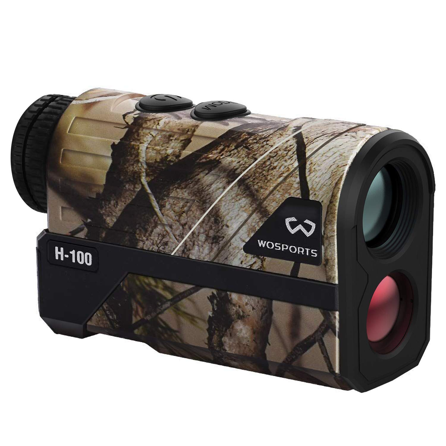 Wosports Hunting Range Finder, Upgraded Battery Cover - Laser Rangefinder Archery Bow Hunting Ranging, Flagpole Lock, Speed - Free Battery (1000 Yards) by WOSPORTS