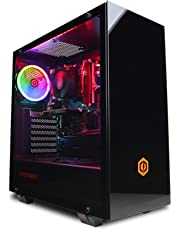 CyberpowerPC Wyvern Gaming PC - Intel Core i5-9400F, Nvidia GTX 1660Ti 6GB, 16GB RAM, 240GB SSD, 1TB HDD, 400W 80+ PSU, Wifi, Windows 10, Onyxia