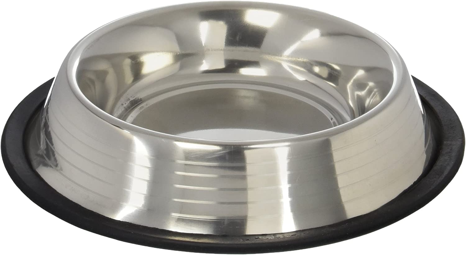 Maslow Dog Bowl with Ridges, Stainless Steel, Non-Skid, 2-Cup