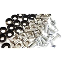 """20 Pack M6 Cage Nuts and Bolts Screws Washers 19"""" Data Cabinet Rack Mount Bolts"""