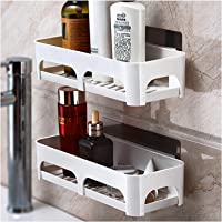 Bathroom shelf wall-mounted suction cup hole-free toilet sink rack