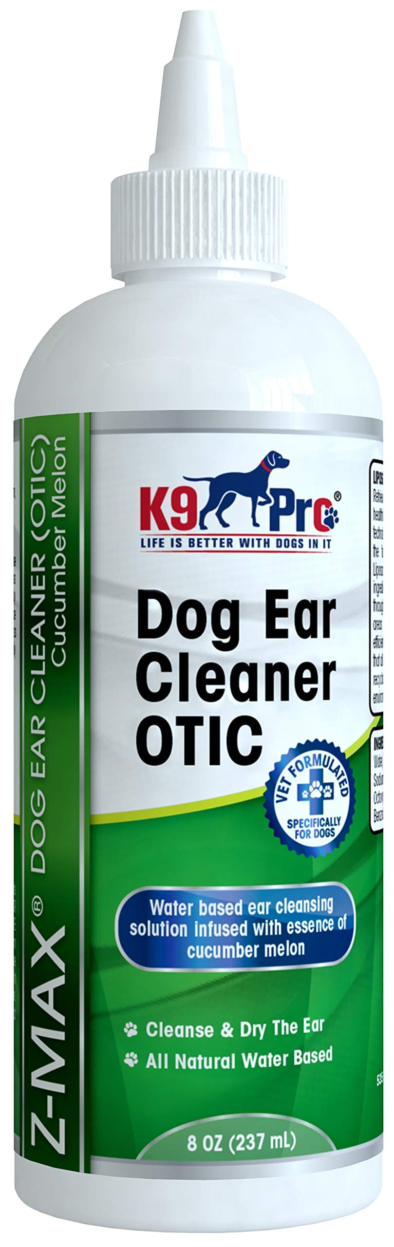K9 Pro Dog Ear Cleaner - Infection Treatment Advanced OTIC Ear Wash for Dogs - Solution for Ear Mite Dogs Itching Head Shaking Discharge Smelly Ears & Yeast Infections by K9 Pro