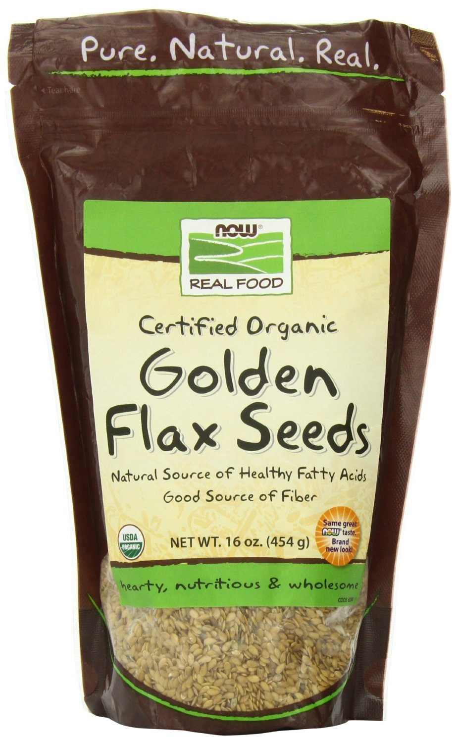 Now Foods Golden Flax Seeds Organic (1 lb)( Triple Pack)