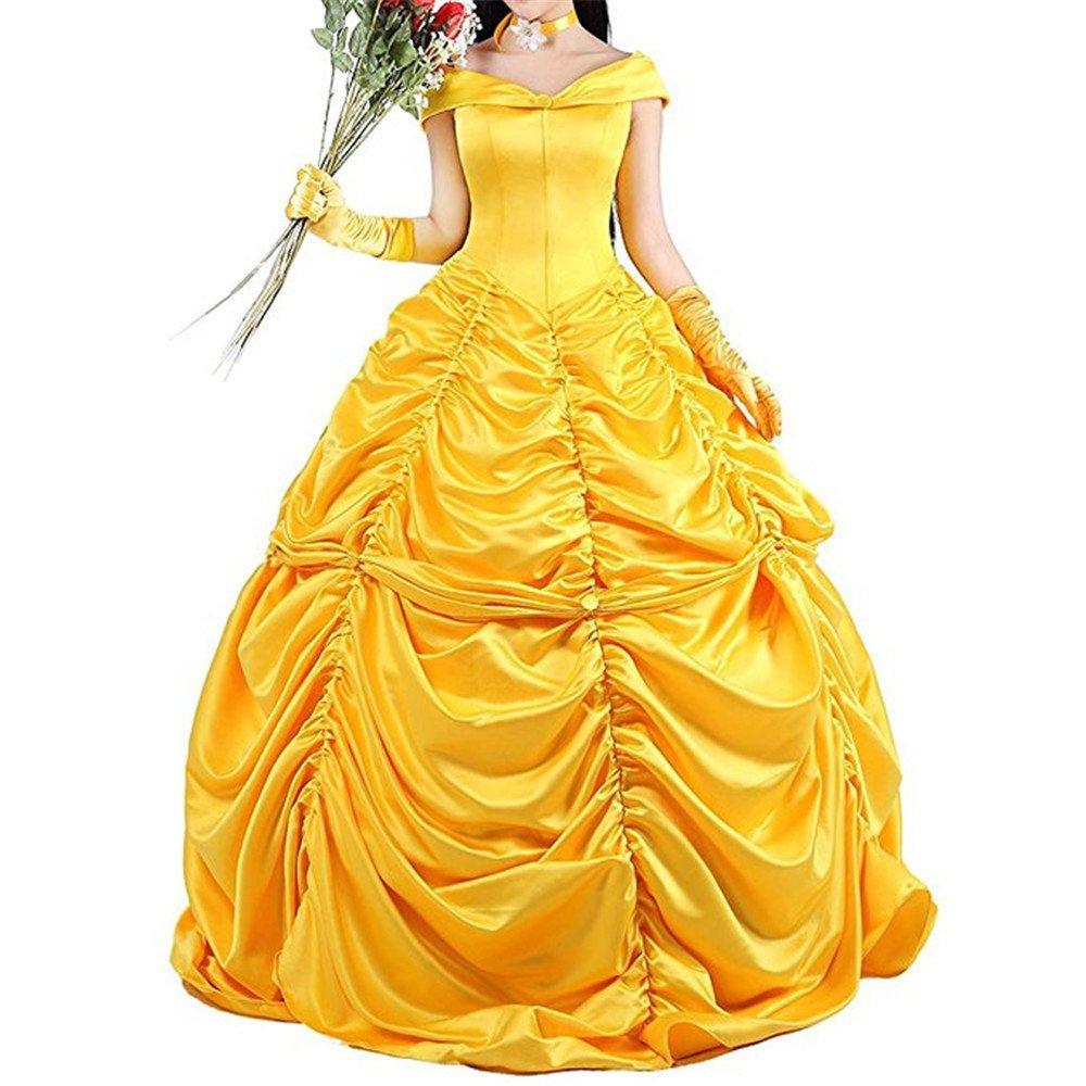Amazon Com Princess Belle Costume Cosplay Stage Performance Dress
