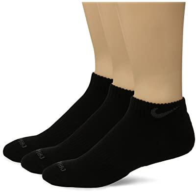 Nike Dri Fit Half Cushion Low Cut Socks 3 Pair Large Shoe Size 8