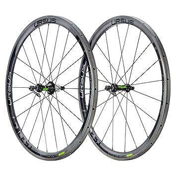 Ursus Miura TS37 par ruedas para tubular de carbono, compatibilidad Shimano, Negro, 700: Amazon.es: Deportes y aire libre