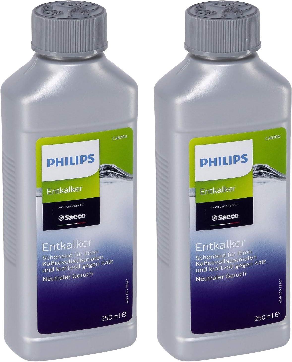 2er Pack Philips de antical CA6700/99 para cafeteras de espresso/cafeteras automáticas a 250 ml: Amazon.es: Hogar
