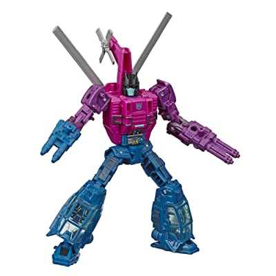 Transformers Toys Generations War for Cybertron Deluxe Wfc-S48 Spinister Figure - Siege Chapter - Adults & Kids Ages 8 & Up, 5: Toys & Games
