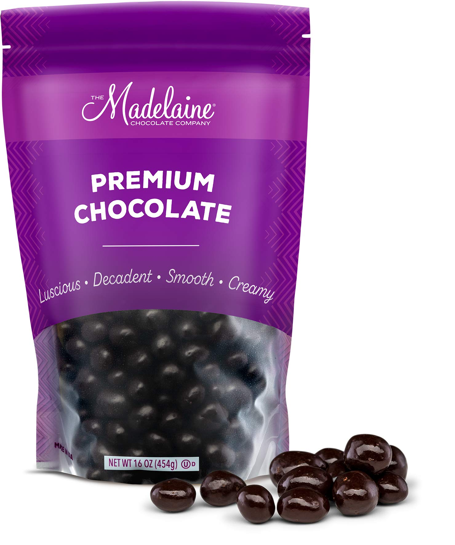 Premium Dark Chocolate Covered Espresso Coffee Beans - Bitter, Sweet, Smooth, Crunchy and Decadent. Gourmet Roasted Espresso Coffee Bean Center Covered In Premium Dark Chocolate (1 LB) by THE MADELAINE CHOCOLATE COMPANY