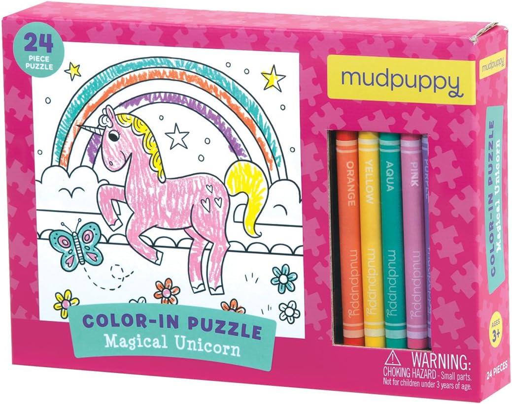 - Amazon.com: Magical Unicorn Color-in Puzzle: Mudpuppy, Nassner