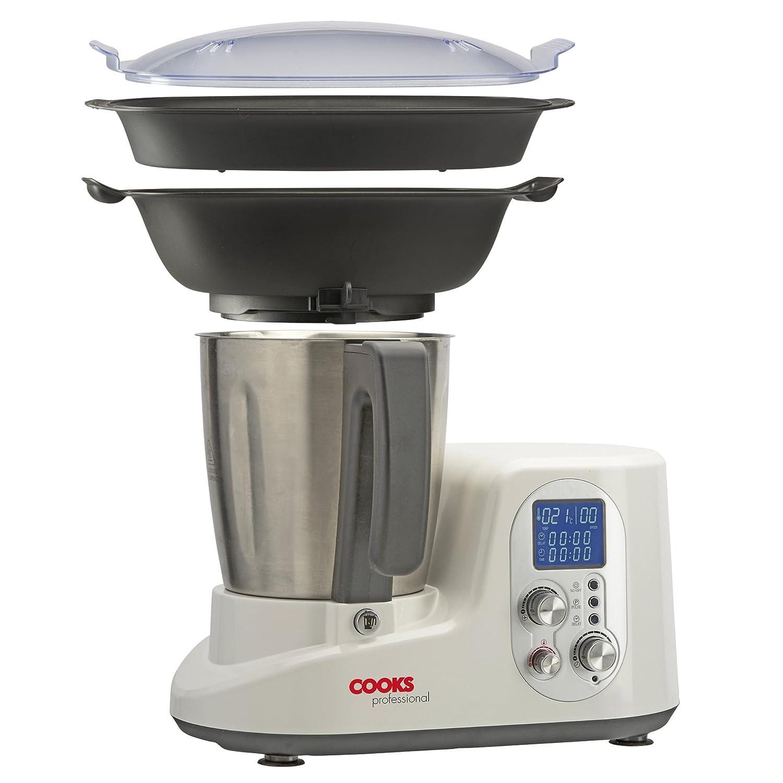 Cooks Professional Deluxe eléctrico Multi Cooker Steamer Batidora con bol para mezclar (Acero Inoxidable, 2 litros.: Amazon.es: Hogar