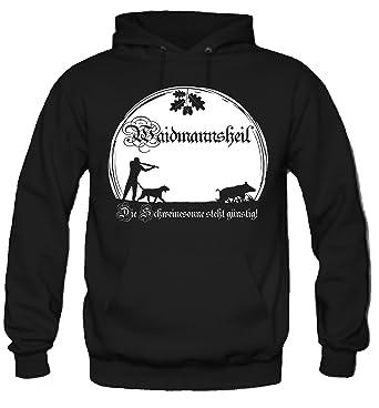 Waidmannsheil Kapuzenpullover   Jagd   Jäger   Wildschwein   Wild   Förster    Männer   Herren   Revier   Keiler   Hirsch   Fun: Amazon.de: Bekleidung