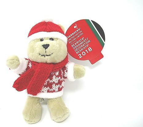 Starbucks Bearista Bears RED /& GREEN 2020 Christmas Edition Ornament