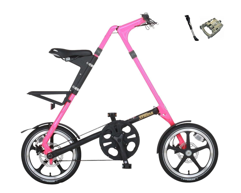 STRIDA(ストライダ) STRiDA LT【ストライダ LT】 16インチ 折り畳み自転車 キックスタンド、折り畳みペダル仕様 B0714PMP3L ネオンピンク×ブラック ネオンピンク×ブラック
