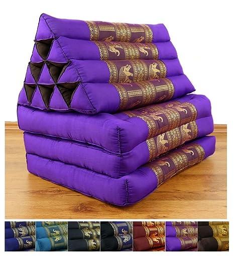 Amazon.com: 3 Fold Cojín de Thai, relleno de ceiba 67 x 20 x ...