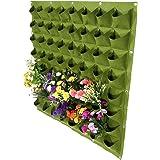 Zerodis 64 bolsillos de plantación vertical bolsa colgador de pared bolsas bolsas de cultivo de flores