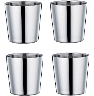 Amazoncom Maxam Stainless Steel 4 Piece Double Wall 13 Oz