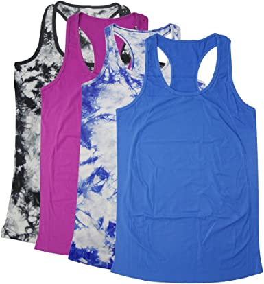 BollyQueena Womens Yoga Tops Home Sports Tank Exercise Gym Shirts Workout Tank Tops