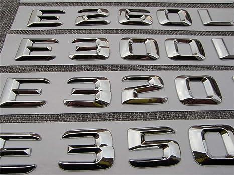 """Chrome /""""E320/"""" High quality Rear Trunk Emblem Decal Badge FOR Mercedes Benz E320"""
