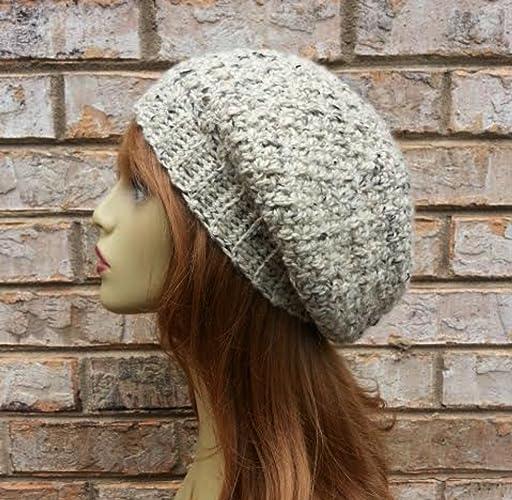 0c3bbca405c Amazon.com  Winter Oatmeal Hat for Women Alpaca Merino Wool Slouchy Beanie  Made in USA  Handmade