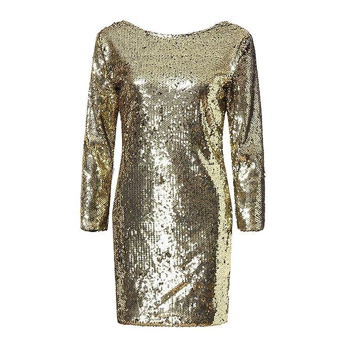 924a6b3b5fac Vestito Paillettes Donna ♥Vestito Corto