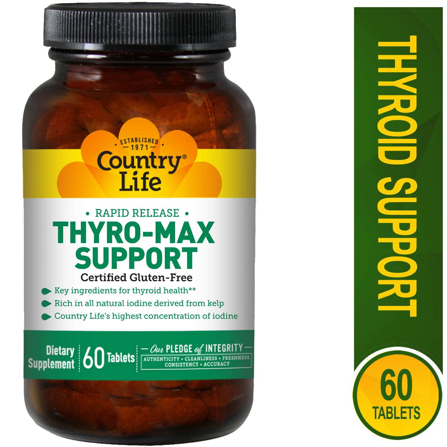 Country Life Thyro-Max Support - 60 Tablets - Thyroid Gland Support - Gluten Free by Country Life