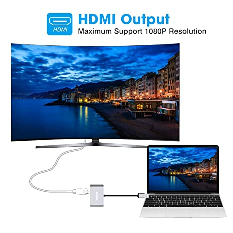 Inkon USB 3.0 a HDMI y VGA, Adaptador de Pantalla Doble para Windows 7/8/10, 2 en 1 Adaptador USB a HDMI de Doble Salida 1080P: Amazon.es: Electrónica