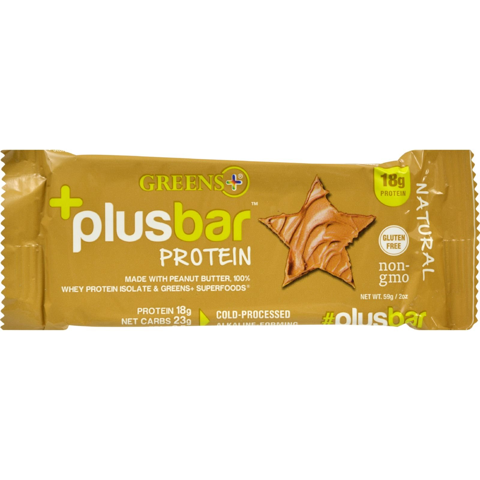 2Pack! Greens Plus Protein Bar - Natural - 2.08 oz - Case of 12