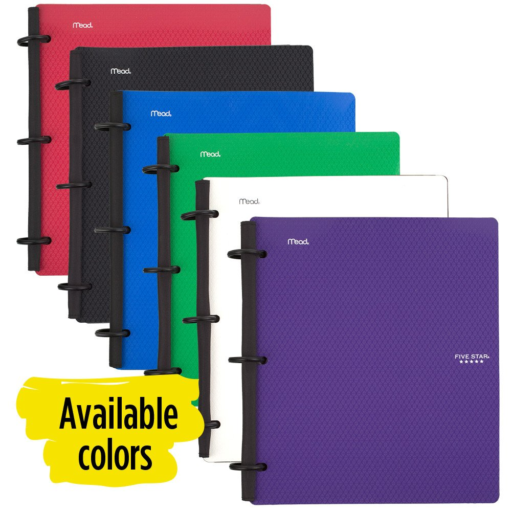 Five Star Flex Hybrid NoteBinder, 1 Inch Binder, Notebook and Binder All-in-One, Blue (72011) by Mead (Image #8)