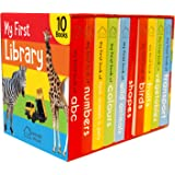 My First Library: Boxset of 10 Board Books for Kids