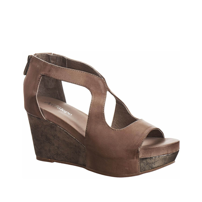 Antelope Women's 943 Leather Bottom Wrap Cutouts Sandals B01C7E3DZ0 8 B(M) US / 39 EU Grey