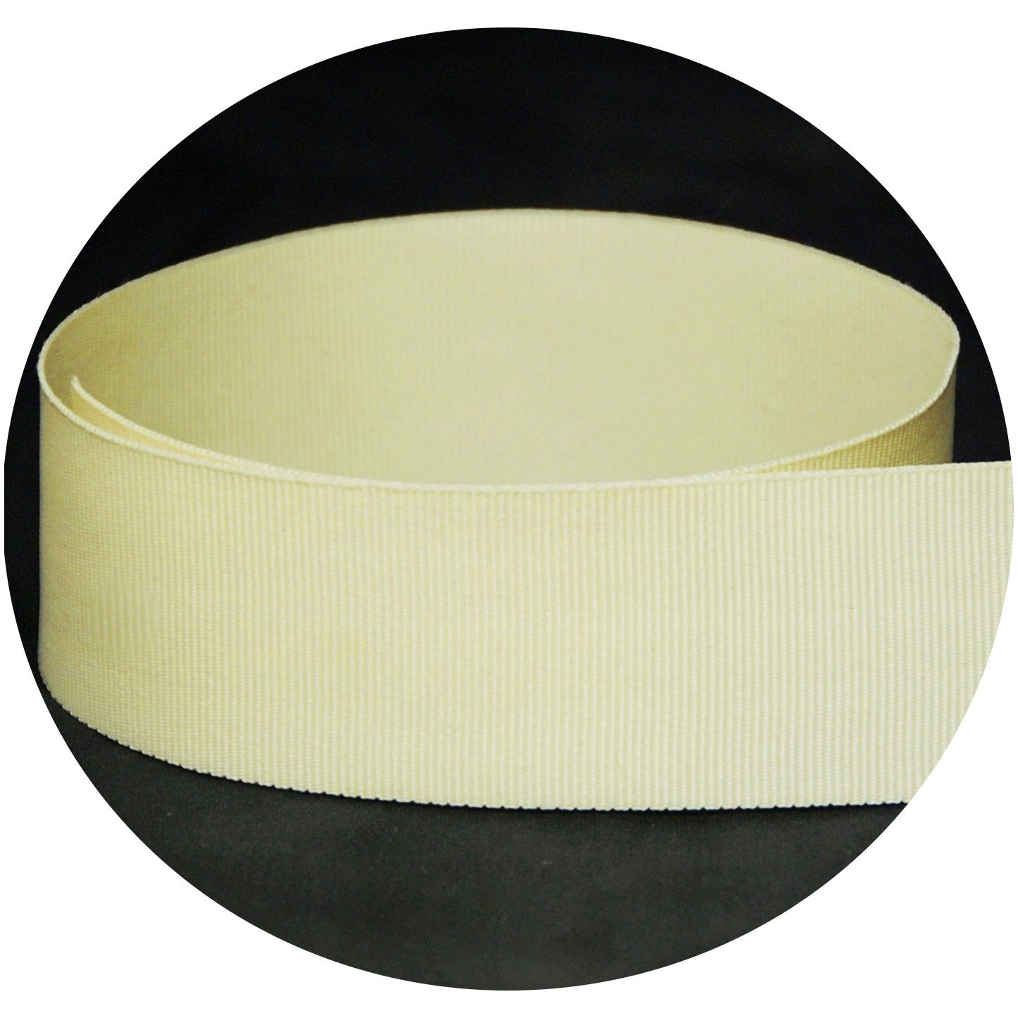 USA Made 5/8'' Cream/Natural Solid Grosgrain Ribbon - 100 Yards - (Multiple Widths & Yardages Available)