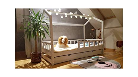 Bed 140 Breed.Amazon Com House Bed Bella With Barriers And Drawer