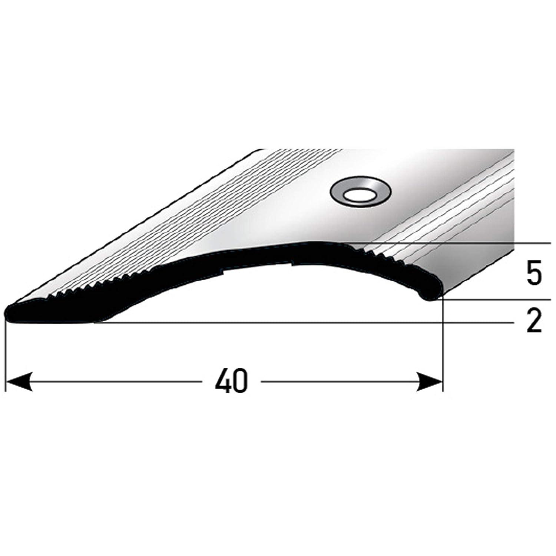 silber * 2-16mm * Inkl /Übergangsleiste /Übergangsschiene Parkett /& Teppich 135cm Schrauben * /Übergangsprofil f/ür Laminat acerto 51052 Alu H/öhenausgleichsprofil Bodenprofil f/ür Fu/ßb/öden