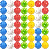 CAITON Plastic Golf Balls, Practice Golf Balls Perforated Training Golf Balls for Home Putting Practice Backyards Swing Pract