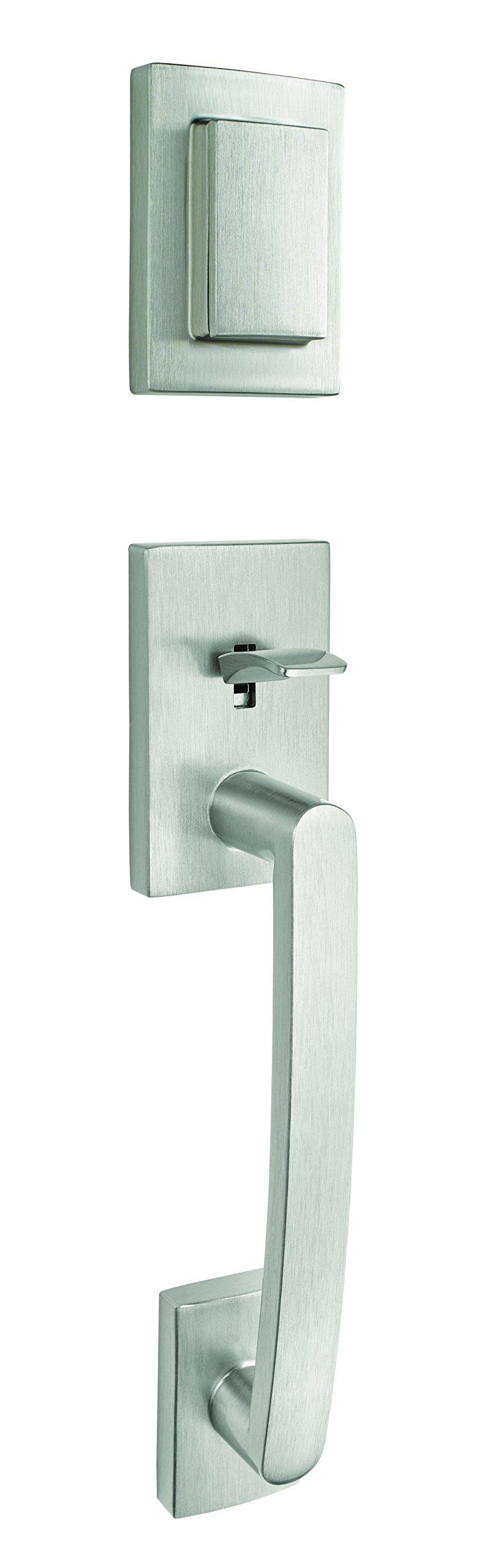 Baldwin Prestige Spyglass Single Cylinder Handle Set with Spyglass Lever Featuring Smart Key in Satin Nickel