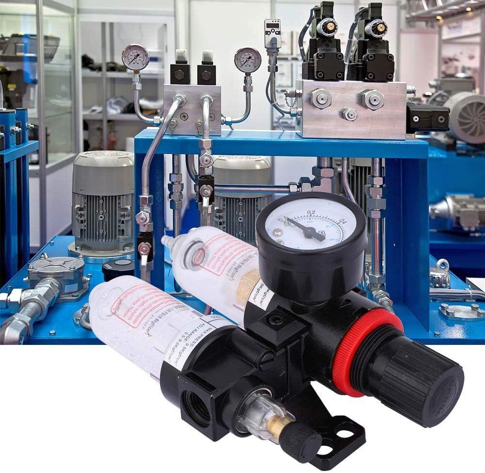 Regolatore di pressione del filtro dellaria 1//4Separatore di acqua dellolio Filtro dellaria Compressore daria Filtro del compressore daria con coppa del lubrificatore per sistema AFC2000
