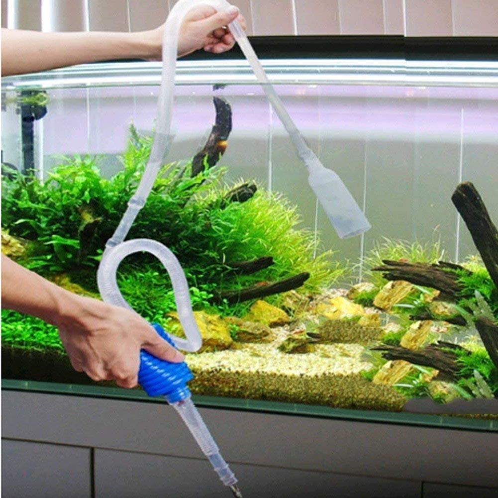 CHRONSTYLE Acuario sifón de agua del acuario limpiador de grava arena filtro de la bomba de tubo aspirador de vacío Dispositivo (blanco): Amazon.es: ...