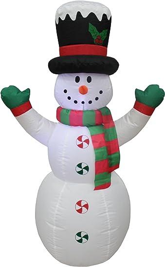 Amazon.com: 4 foot Tall Navidad Muñeco de nieve con sombrero ...